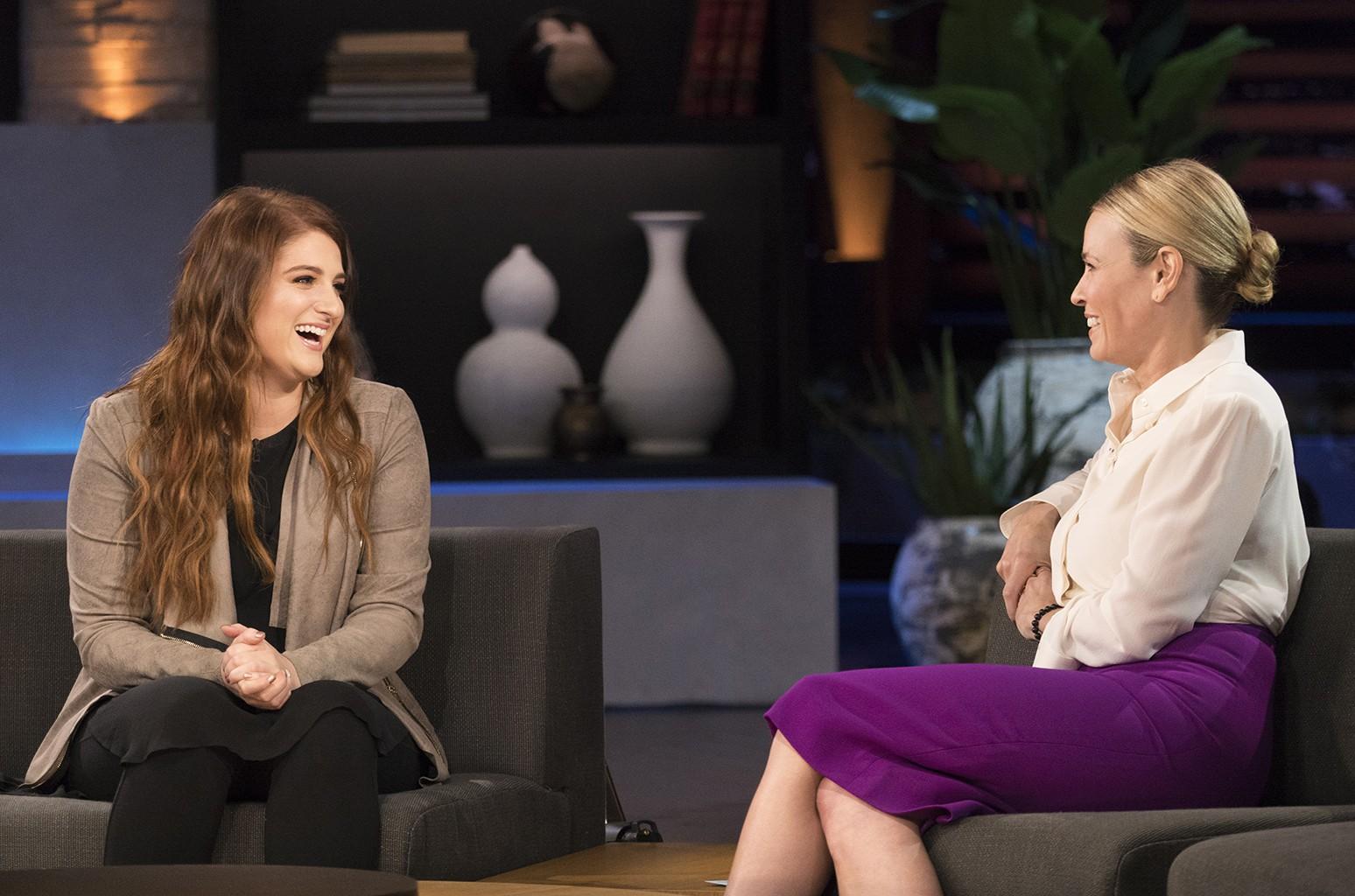 Meghan Trainor and Chelsea Handler