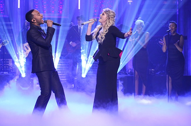 Meghan Trainor and John Legend