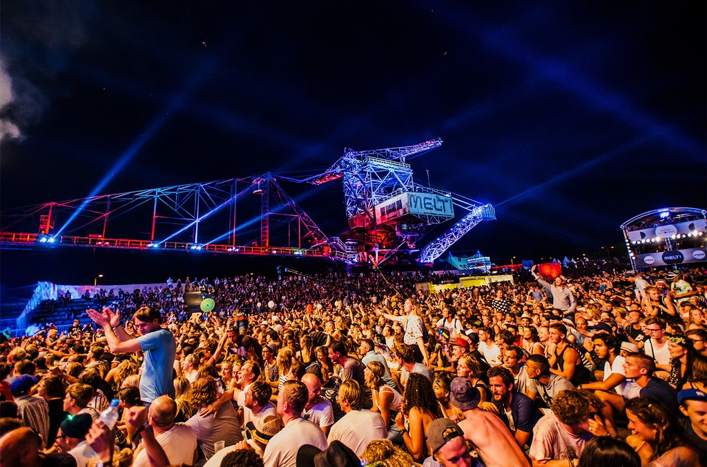A general view of Melt! Festival on July 18, 2015 in Graefenhainichen, Germany.