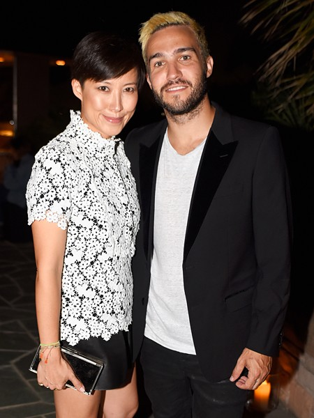 Creative Director, Jimmy Choo, Sandra Choi and Men of Style honoree Pete Wentz