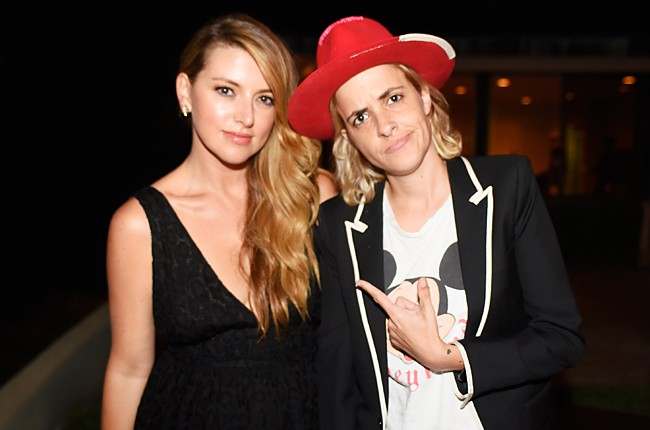 Director of Entertainment Relations, Jimmy Choo, Sara Riff and Samantha Ronson
