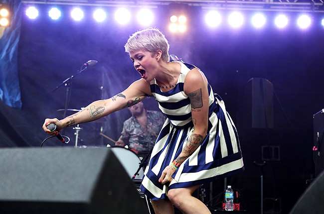 Meredith Graves of Perfect Pussy at Pitchfork 2014