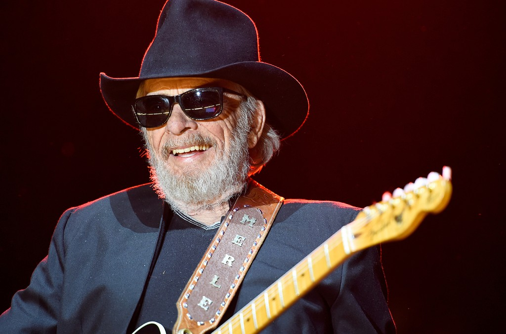 Merle Haggard performs during day one of 2015 Stagecoach, California's Country Music Festival, at The Empire Polo Club on April 24, 2015 in Indio, Calif.