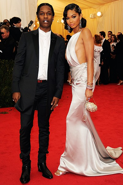 ASAP Rocky and Chanel Iman at the 2014 Costume Institute Gala