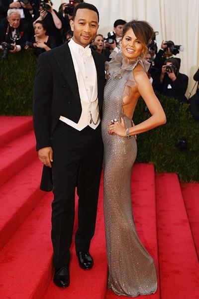John Legend and Chrissy Teigen at the 2014 Costume Institute Gala