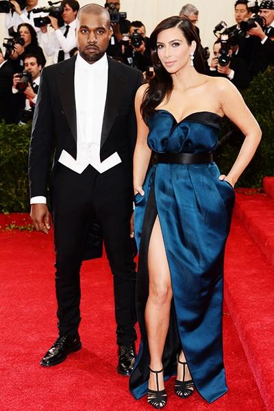 Kanye West and Kim Kardashian at the 2014 Costume Institute Gala