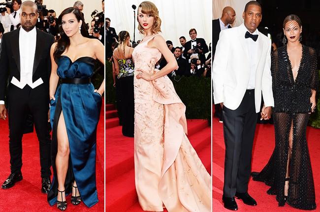 Kayne West, Kim Kardashian, Taylor Swift, Jay Z, and Beyonce at 2014 Met Gala