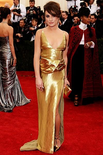 Lea Michele at the 2014 Costume Institute Gala