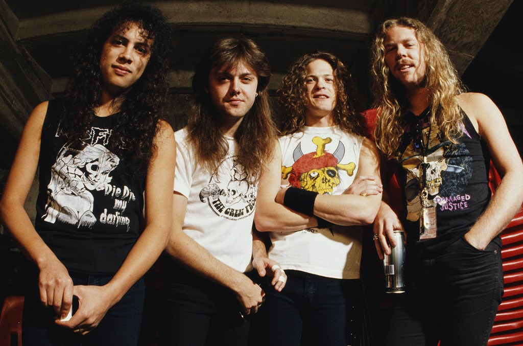 Metallica photographed in the early 1990s.