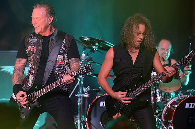 Metallica Live at New York's Apollo Theater, Sept. 21, 2013.
