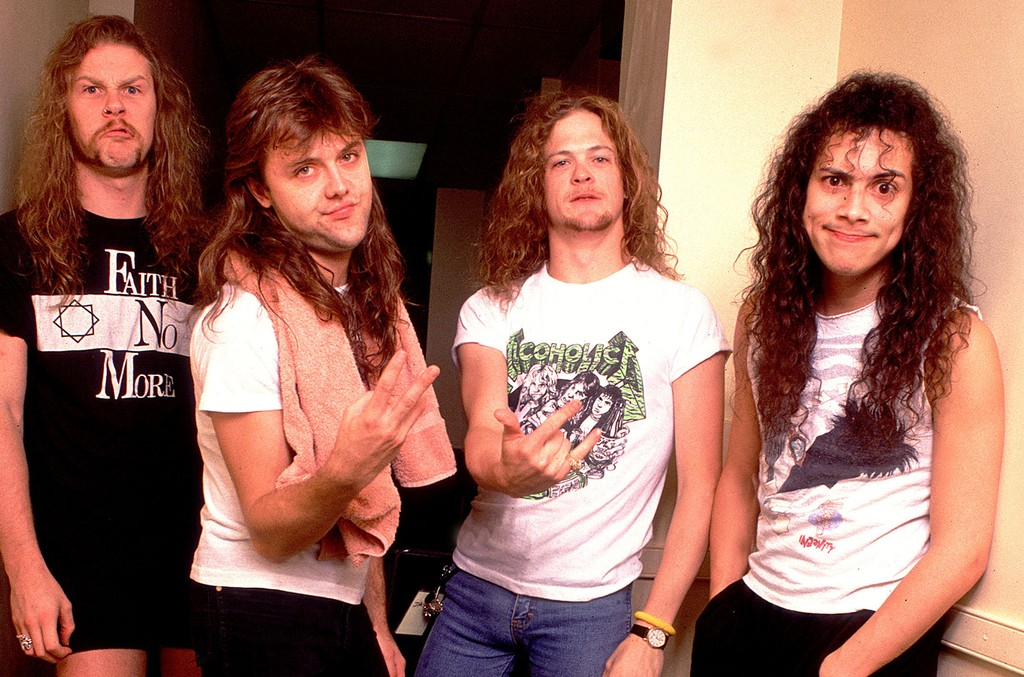 Metallica photographed in Chicago.