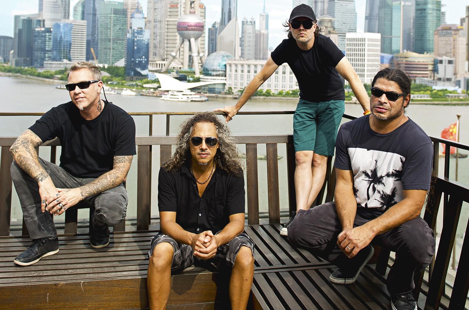 Metallica photographed in 2013