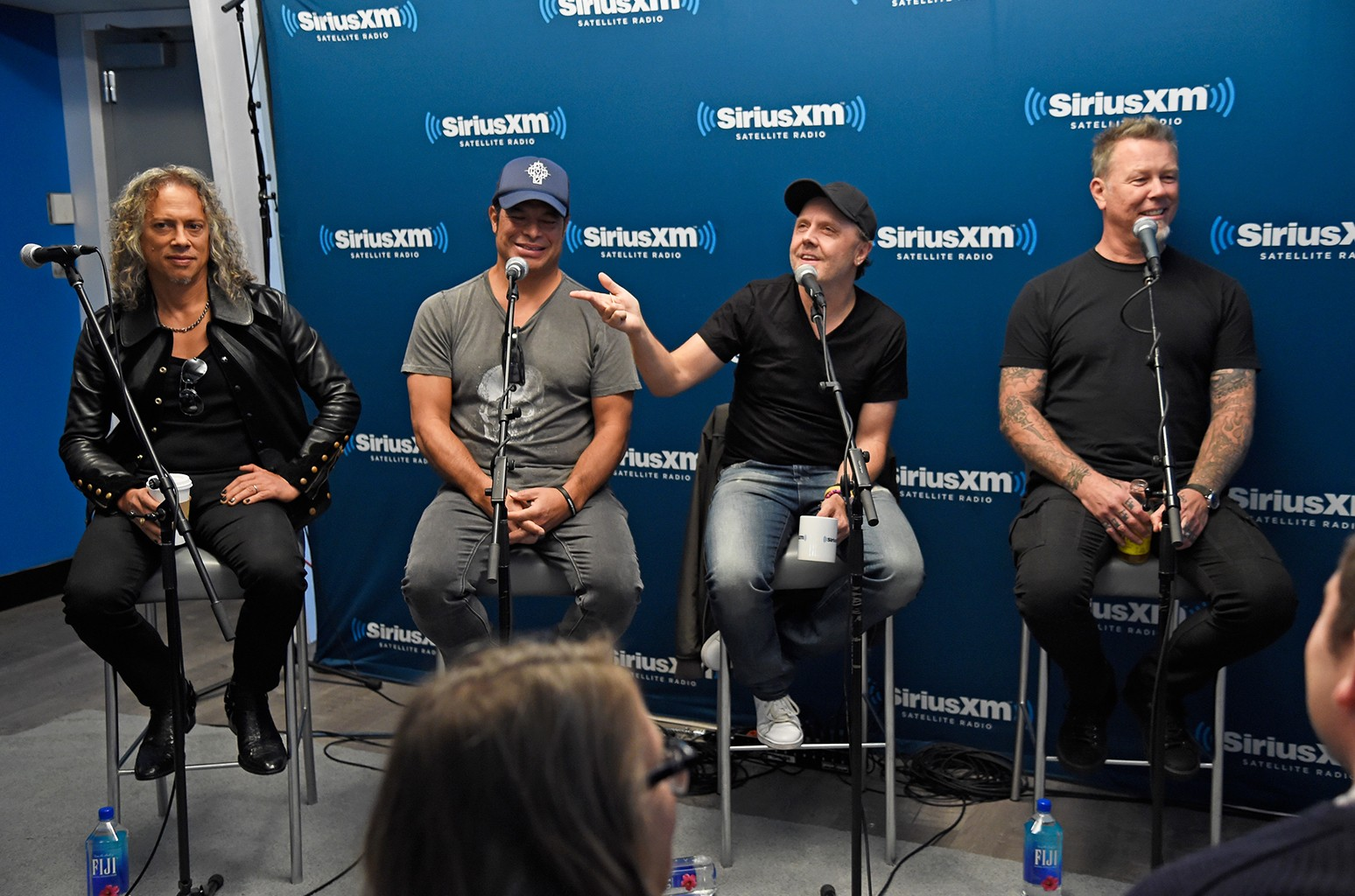 Metallica speak during SiriusXM's Town Hall with Metallica