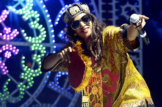 M.I.A performs on November 9, 2013 in Austin, Texas.