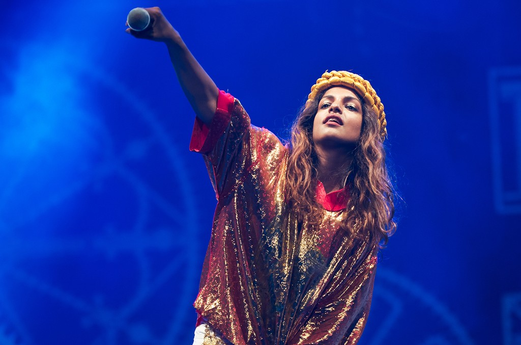 M.I.A performs at Victoria Park in London