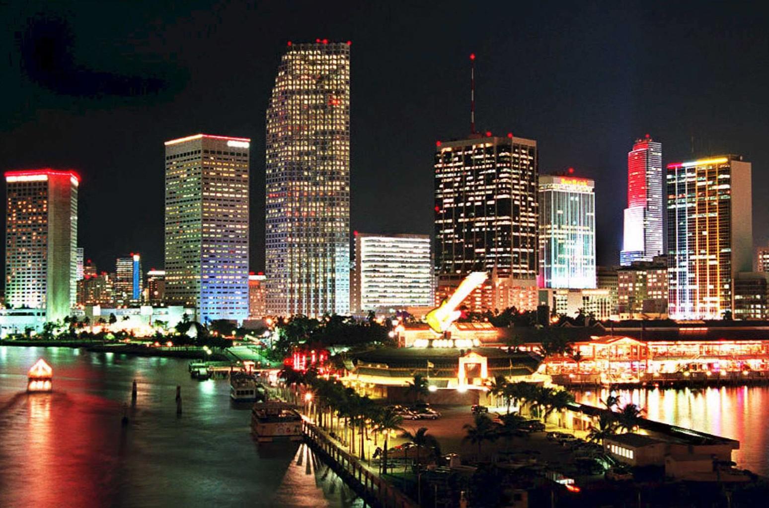 The Miami skyline.