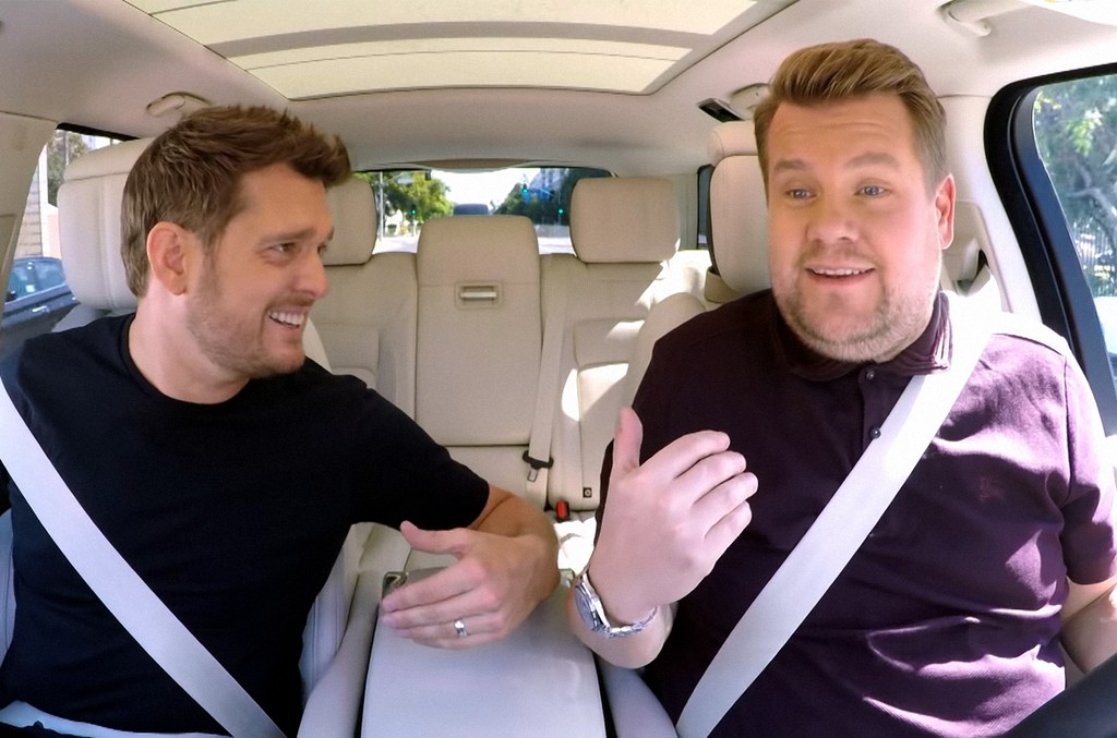 Michael Bublé and James Corden