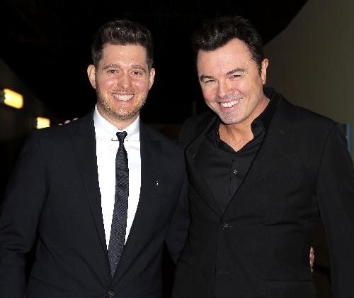 Michael Buble and Seth MacFarlane attend Architects of Sound: Frank Sinatra gala