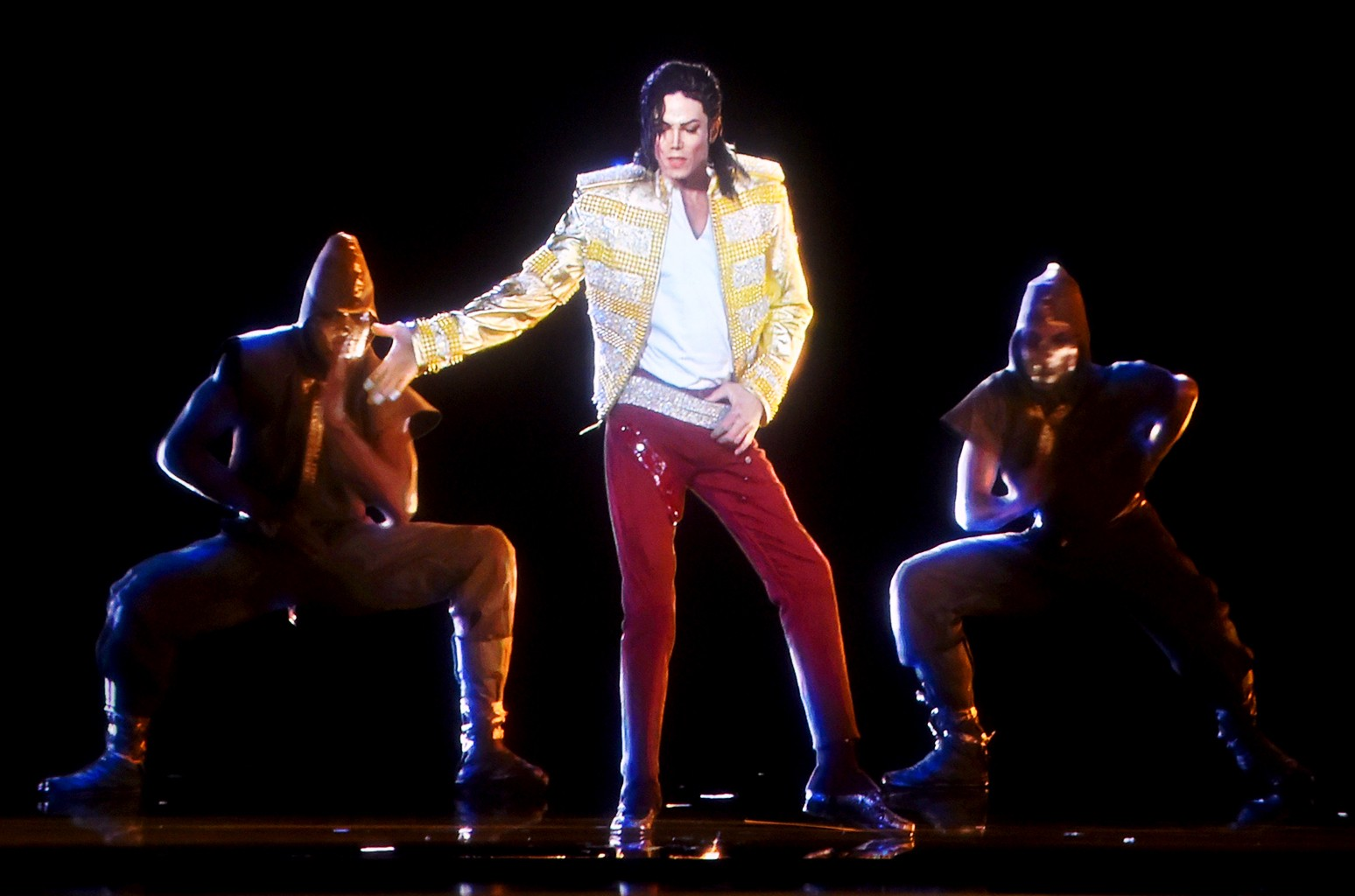 A holographic image of Michael Jackson performs onstage during the 2014 Billboard Music Awards at the MGM Grand Garden Arena on May 18, 2014 in Las Vegas.