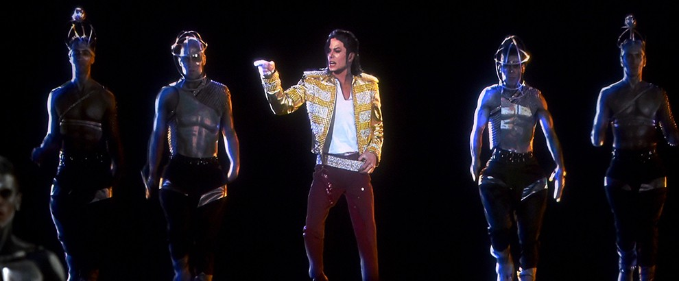 A holographic image of Michael Jackson performs onstage during the 2014 Billboard Music Awards