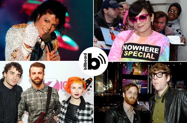 Michael Jackson, Lily Allen, Blacy Keys, Paramore