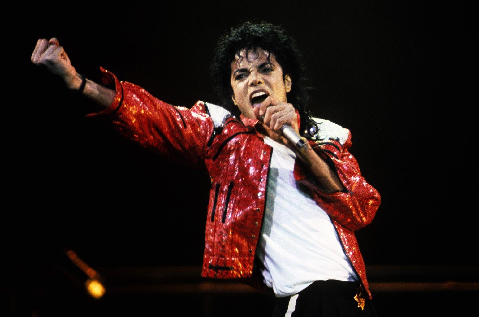 Michael Jackson performs circa 1986.