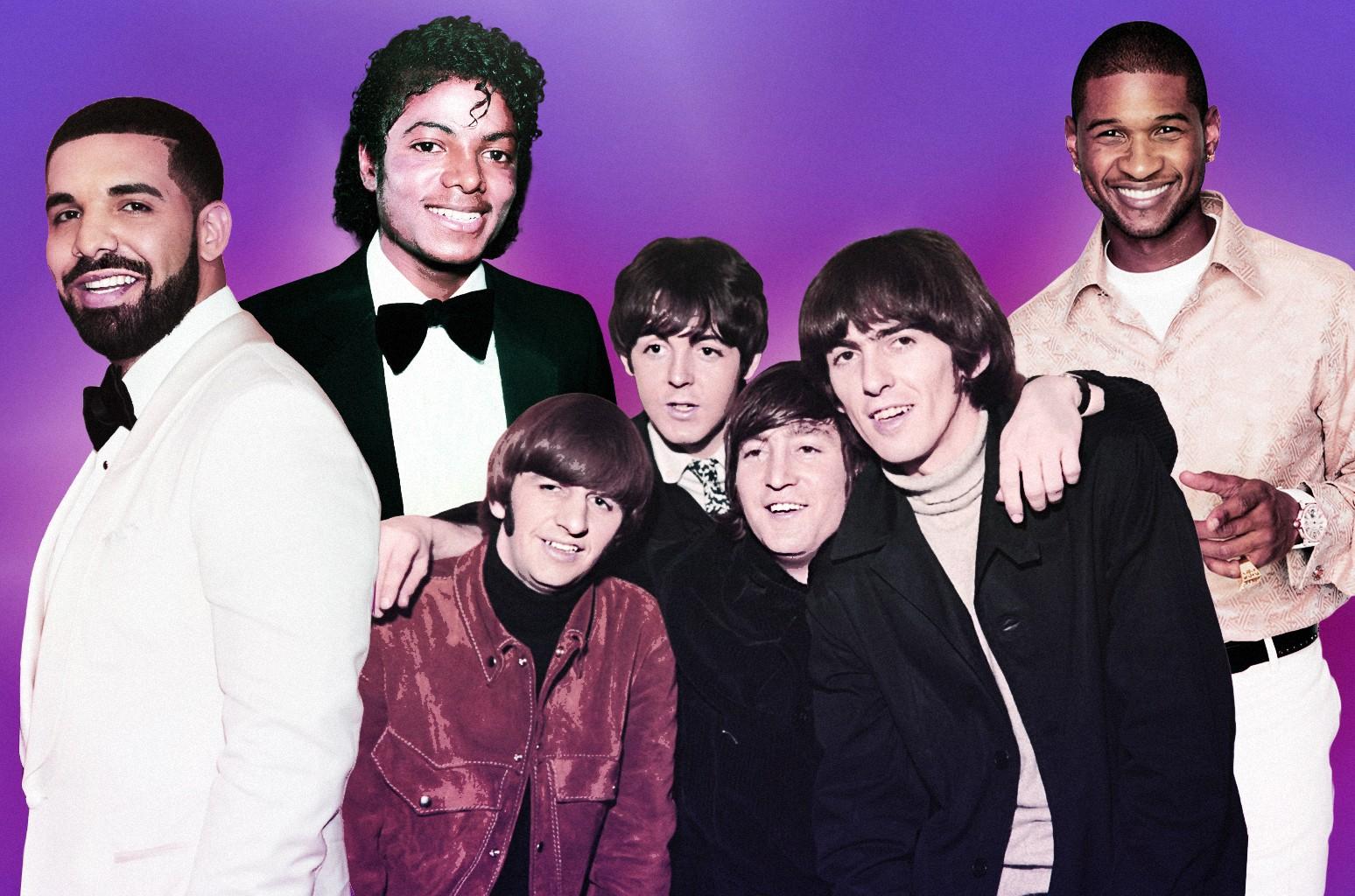 Drake, Michael Jackson, The Beatles & Usher
