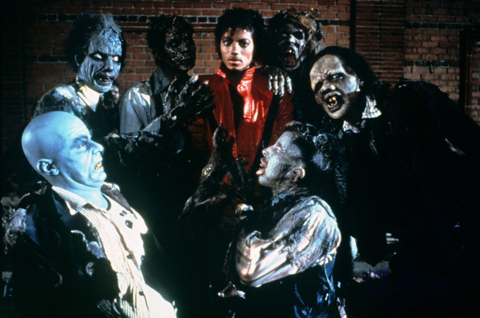 "Michael Jackson in the video for ""Thriller."""