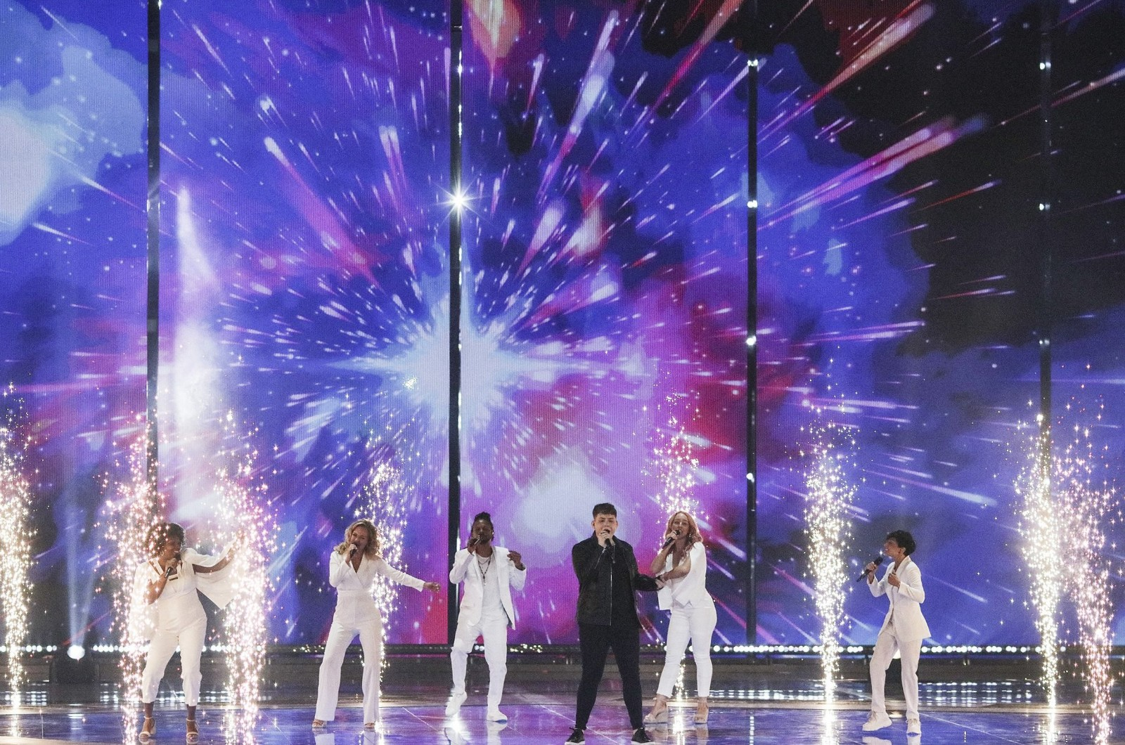 Michael Rice performs during the rehearsal ahead of the grand final of the 2019 Eurovision Song Contest, 17 May 2019 in Tel Aviv, Israel.