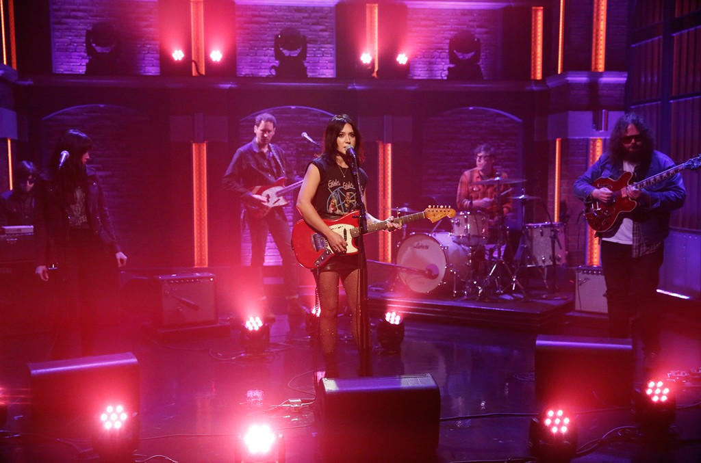 Michelle Branch performs on 'Late Night with Seth Meyers' on April 5, 2017.