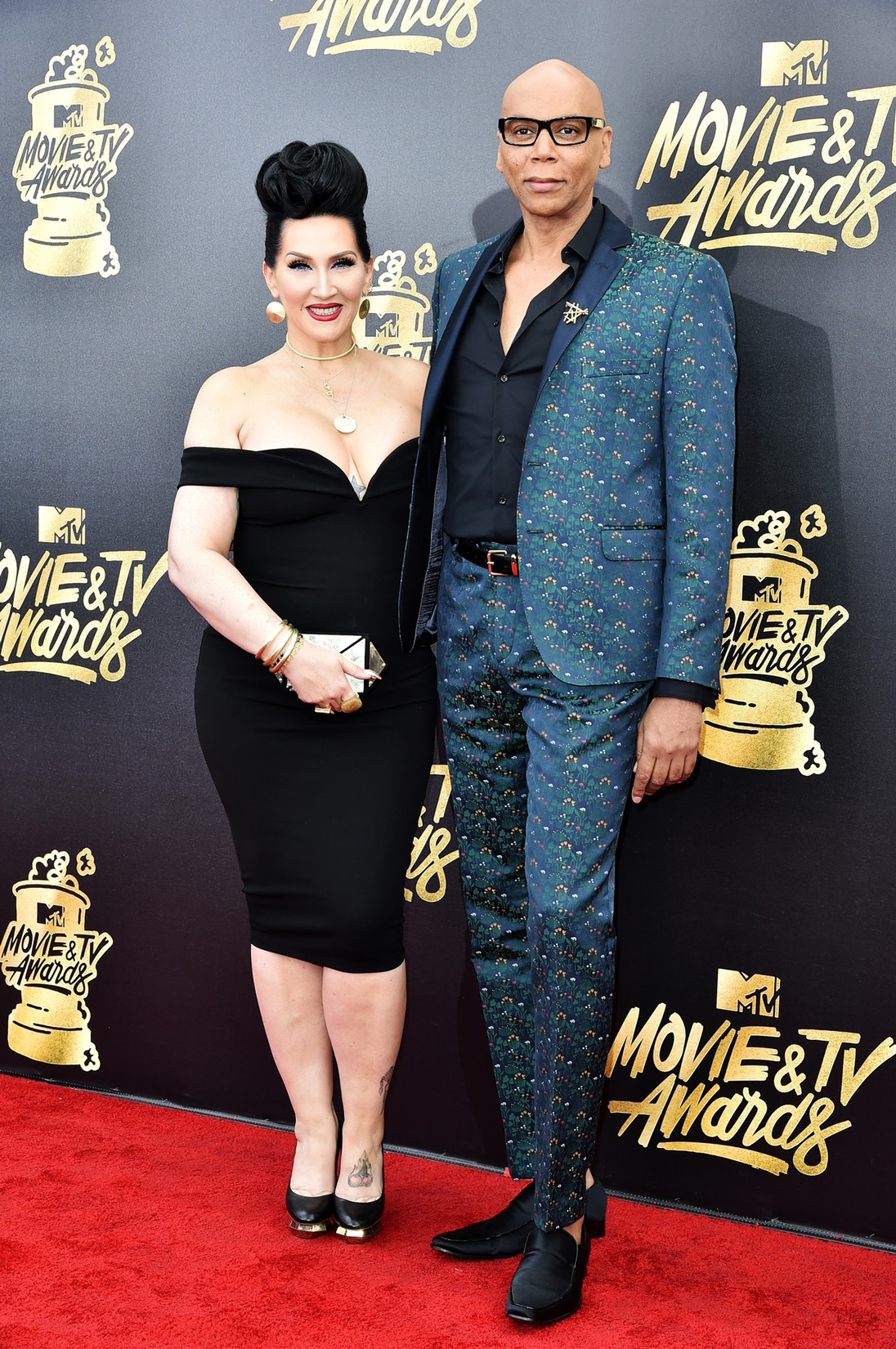 Michelle Visage and RuPaul attend the 2017 MTV Movie and TV Awards at The Shrine Auditorium on May 7, 2017 in Los Angeles.