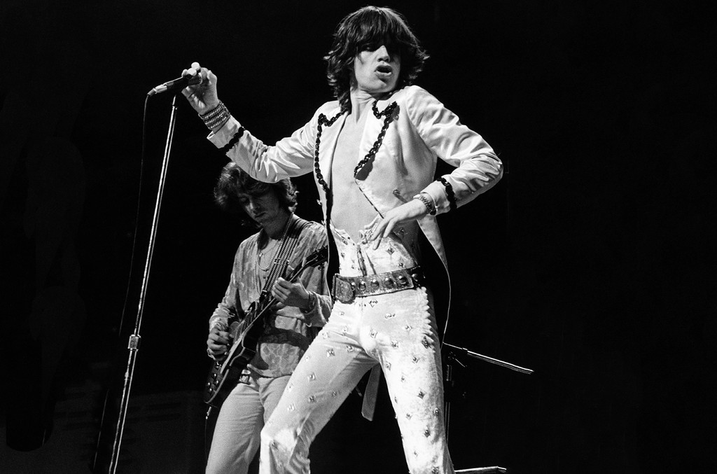 Mick Jagger of the Rolling Stones performs at Wembley Empire Pool.