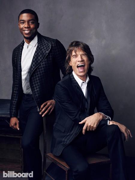 Mick Jagger and Chadwick Boseman