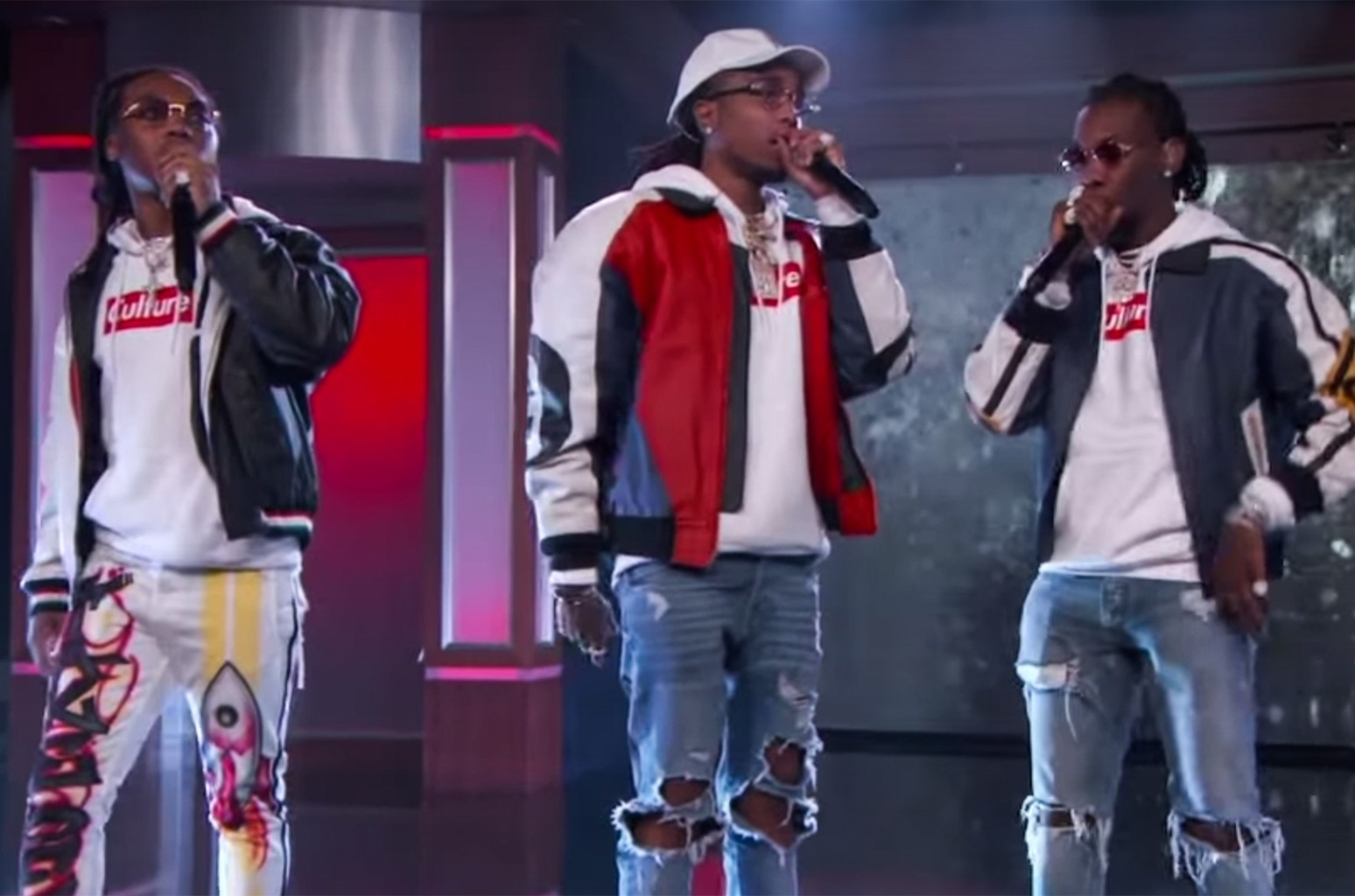 Migos Perform 'Bad and Boujee' on Jimmy Kimmel Live