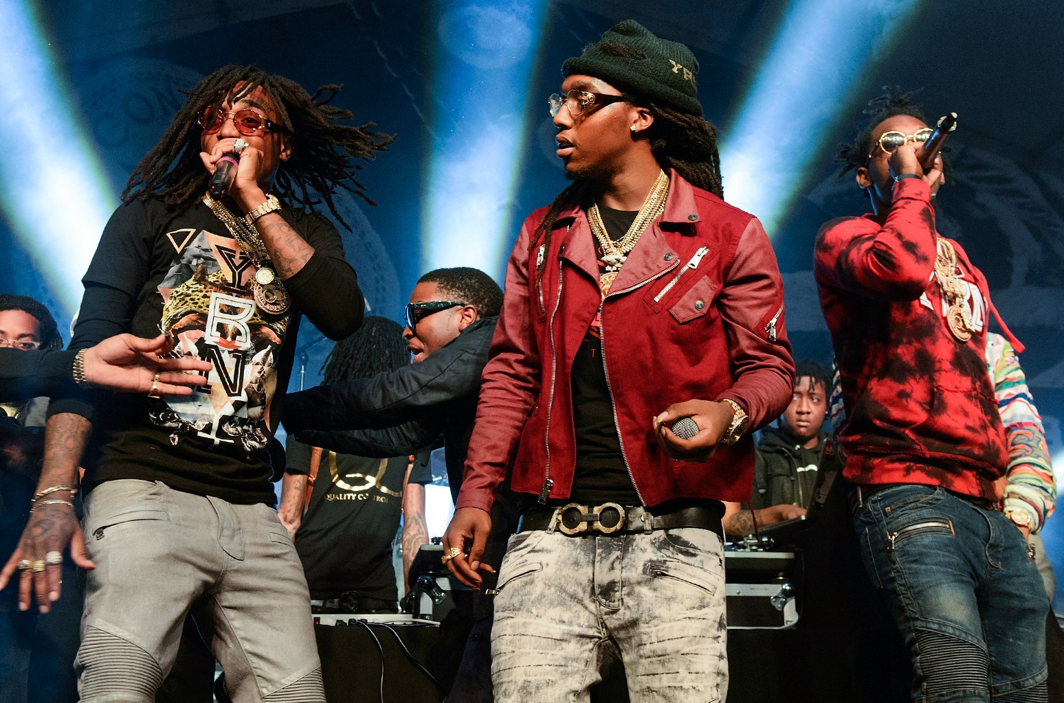 Migos perform during SXSW on March 20, 2015 in Austin, Texas.