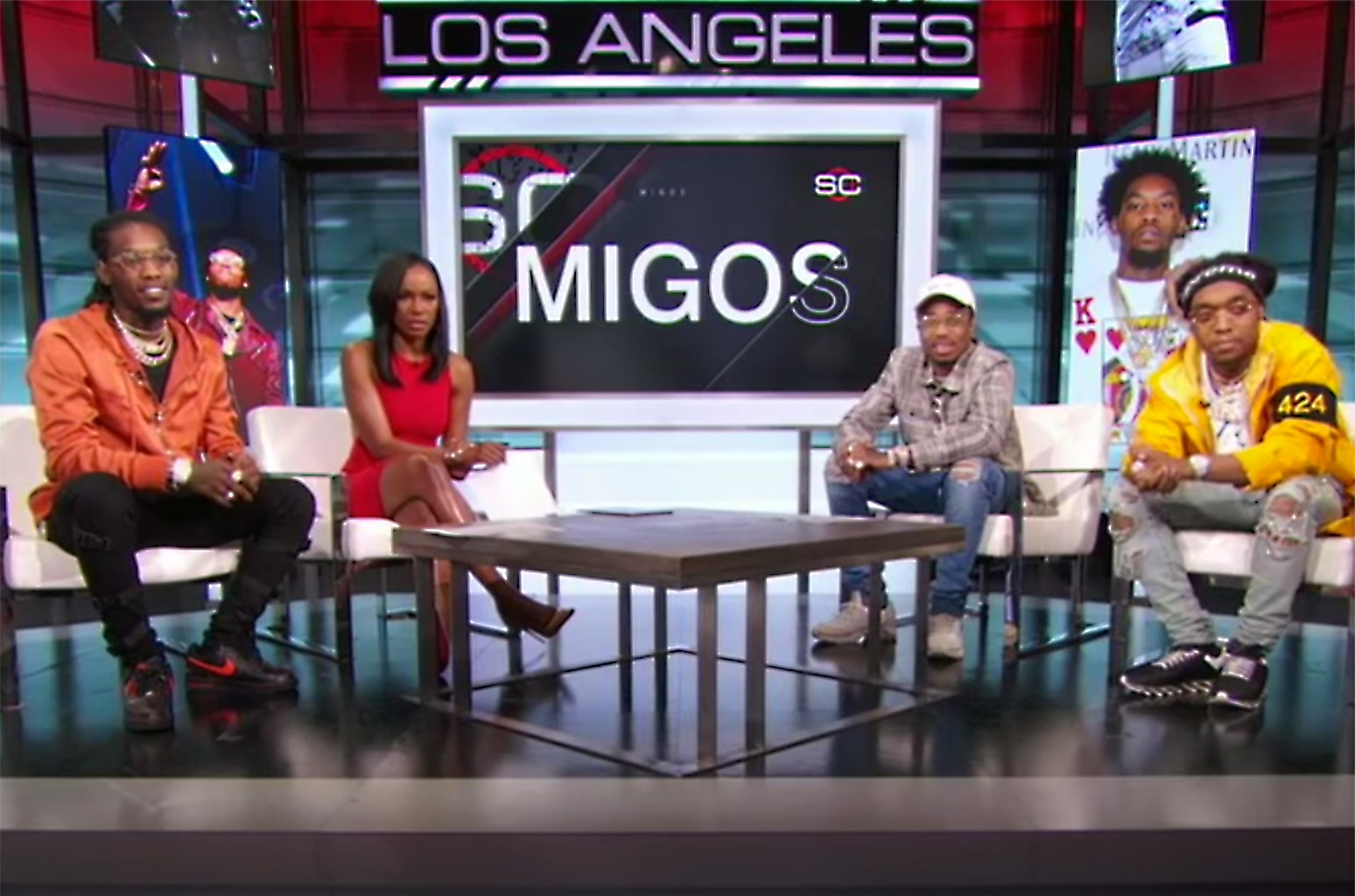 Migos joins SportsCenter on March 29, 2017.