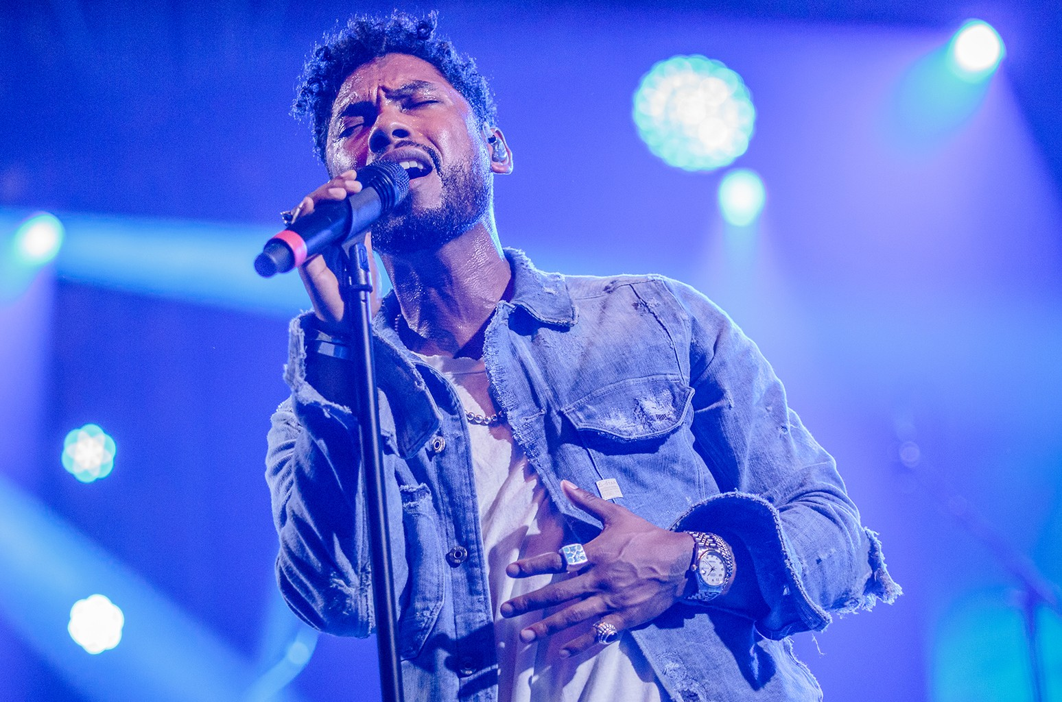 Miguel performs during the Bonnaroo Music & Arts Festival