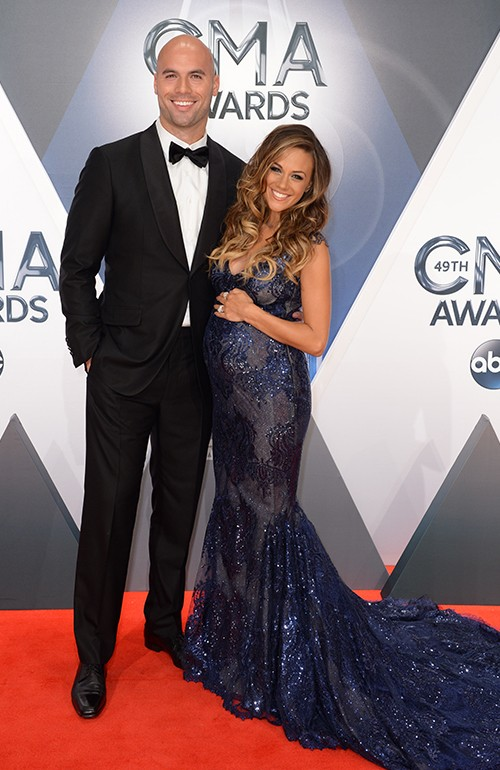Michael Caussin and Jana Kramer attend the 49th annual CMA Awards