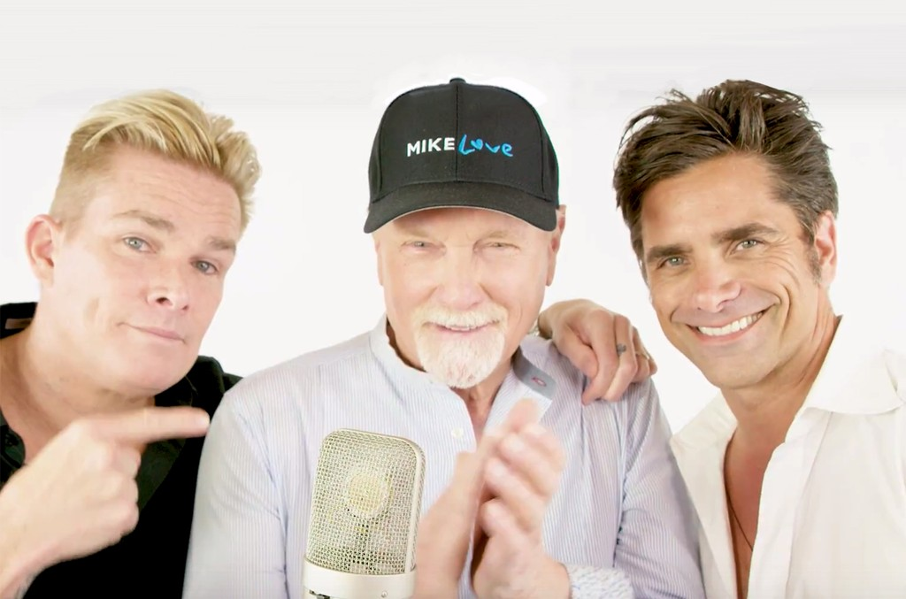 "Mark McGrath, Mike Love and John Stamos in the video for ""Do It Again"""