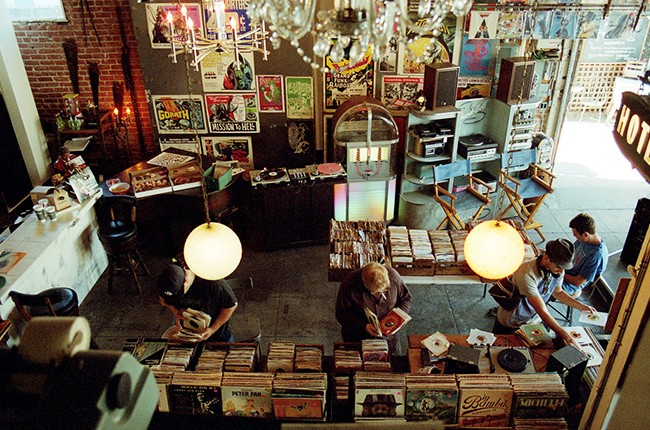 """Record Parlor from the book """"Record Store Book: Fifty Legendary and Iconic Places to Discover New and Used Vinyl"""" by Mike E. Spitz."""