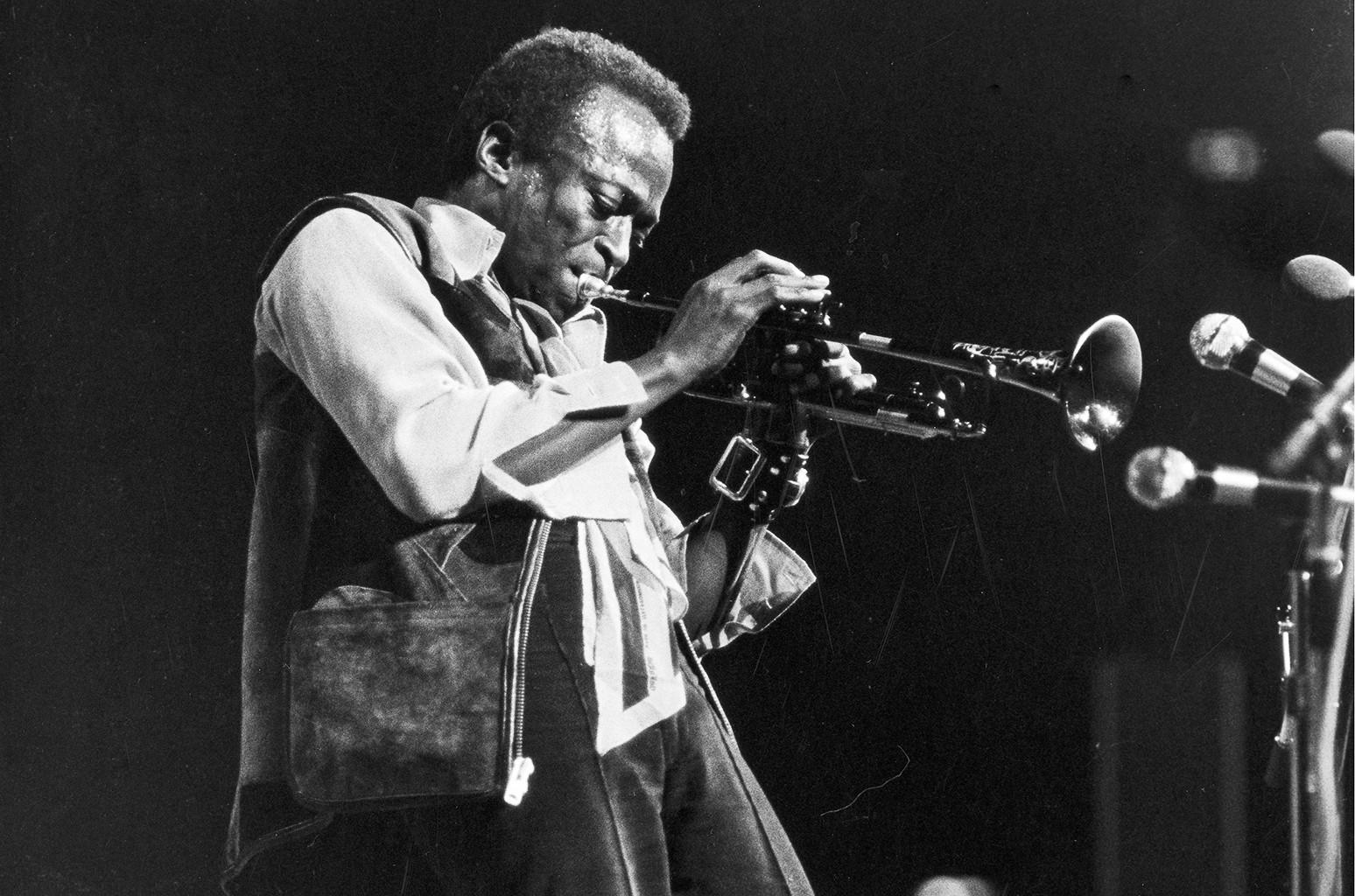 Miles Davis performs in 1960.