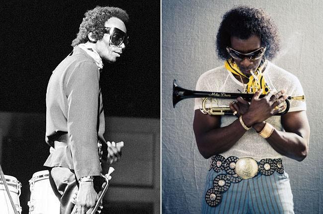 Miles Davis and Don Cheadle as Miles Davis