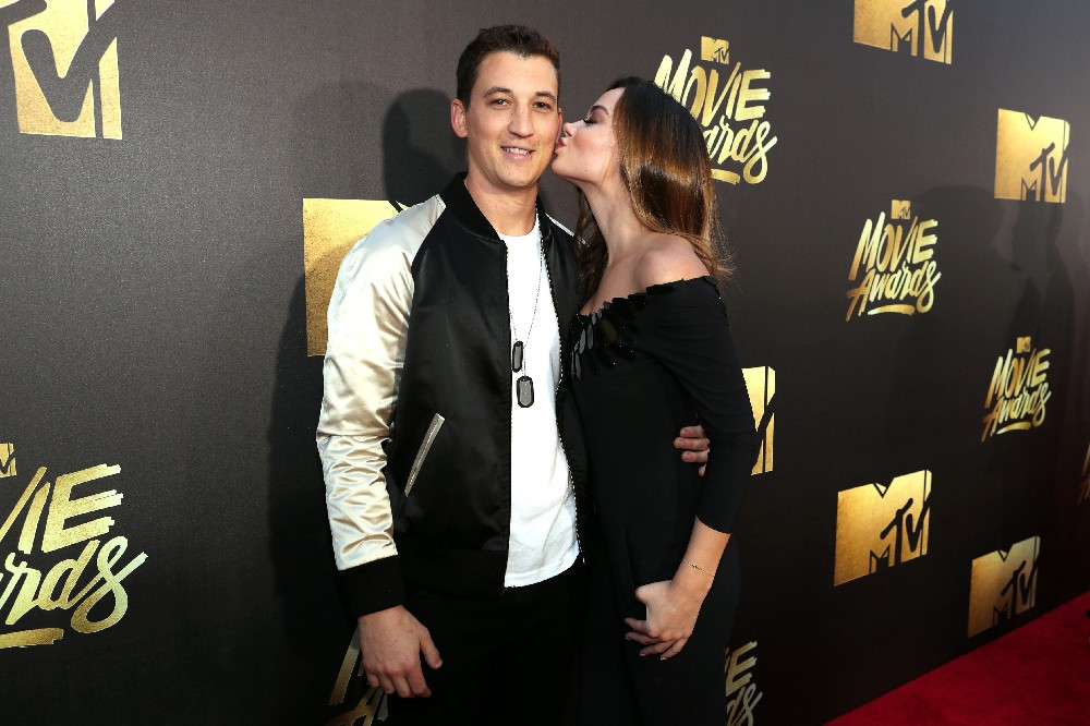 Miles Teller and Keleigh Sperry 2016 mtv movie awards