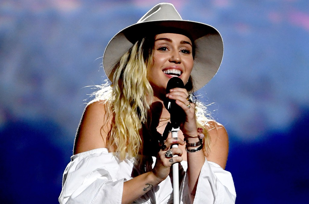 Miley Cyrus performs during the 2017 Billboard Music Awards at T-Mobile Arena on May 21, 2017 in Las Vegas.