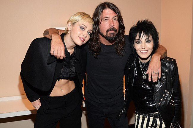 Miley Cyrus, Dave Grohl and Joan Jet