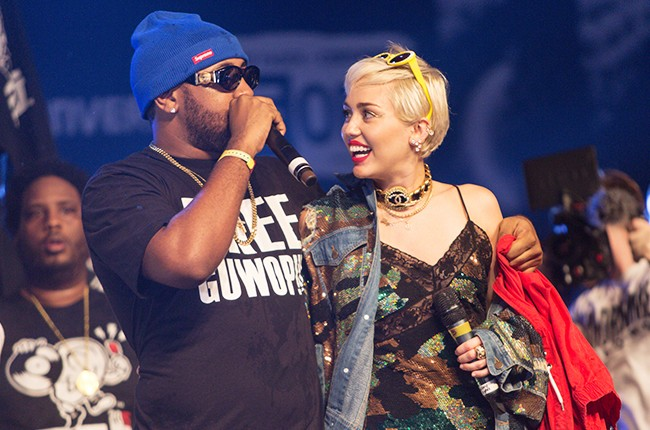 Miley Cyrus and Mike Will perform onstage at The FADER FORT Presented by Converse during SXSW