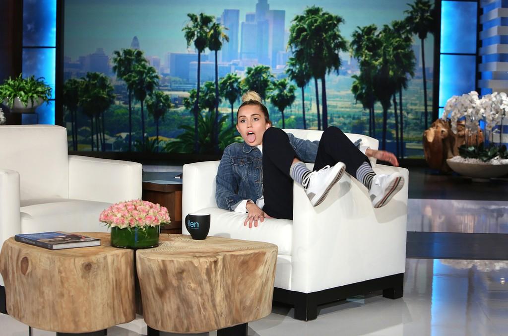 Miley Cyrus fills in as Host of The Ellen DeGeneres Show on Sept. 29, 2016.