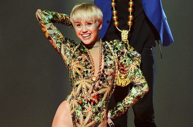 Miley Cyrus performs on her Bangerz Tour