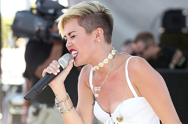 Miley Cyrus performs at the iHeart Radio Music Festival Village on September 21, 2013 in Las Vegas.