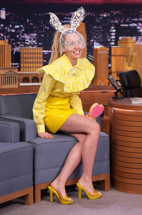"""Miley Cyrus visits """"The Tonight Show Starring Jimmy Fallon"""""""